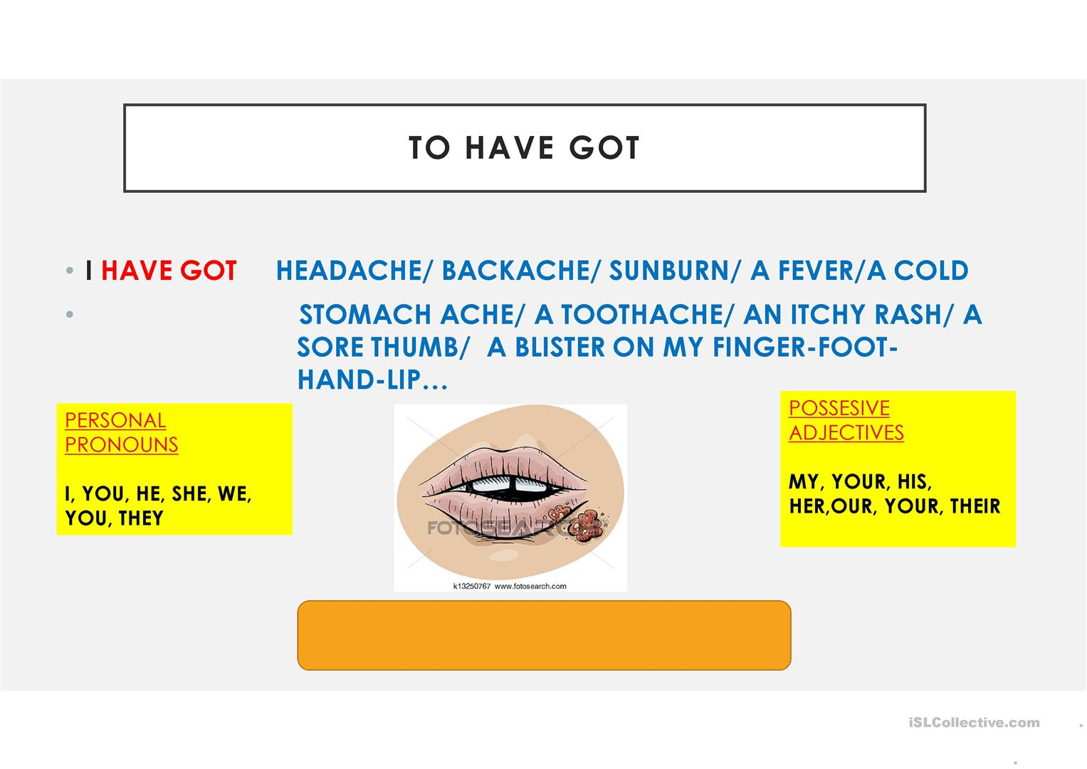 Illness And Injuries Verbal Tenses