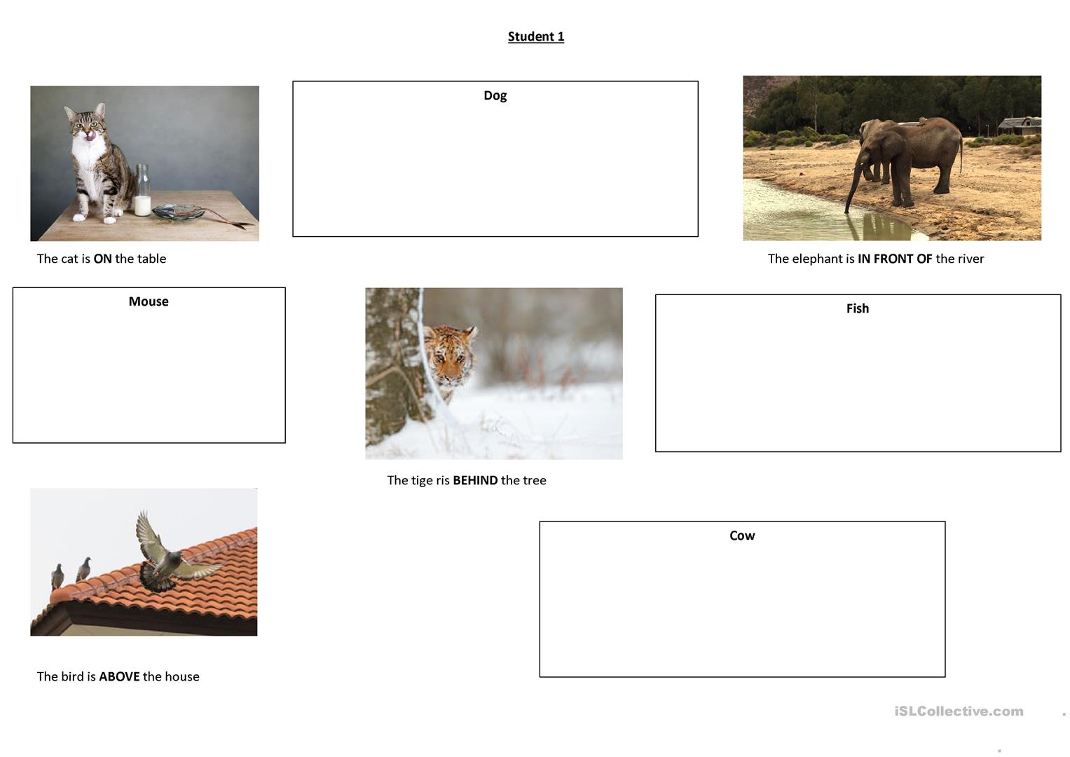 Preposition Of Place Guessing Game