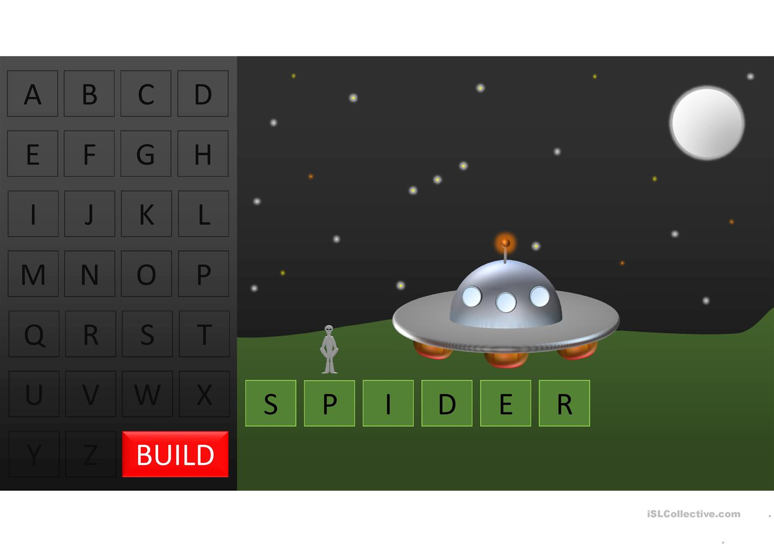 Animal Spaceman Game Hangman