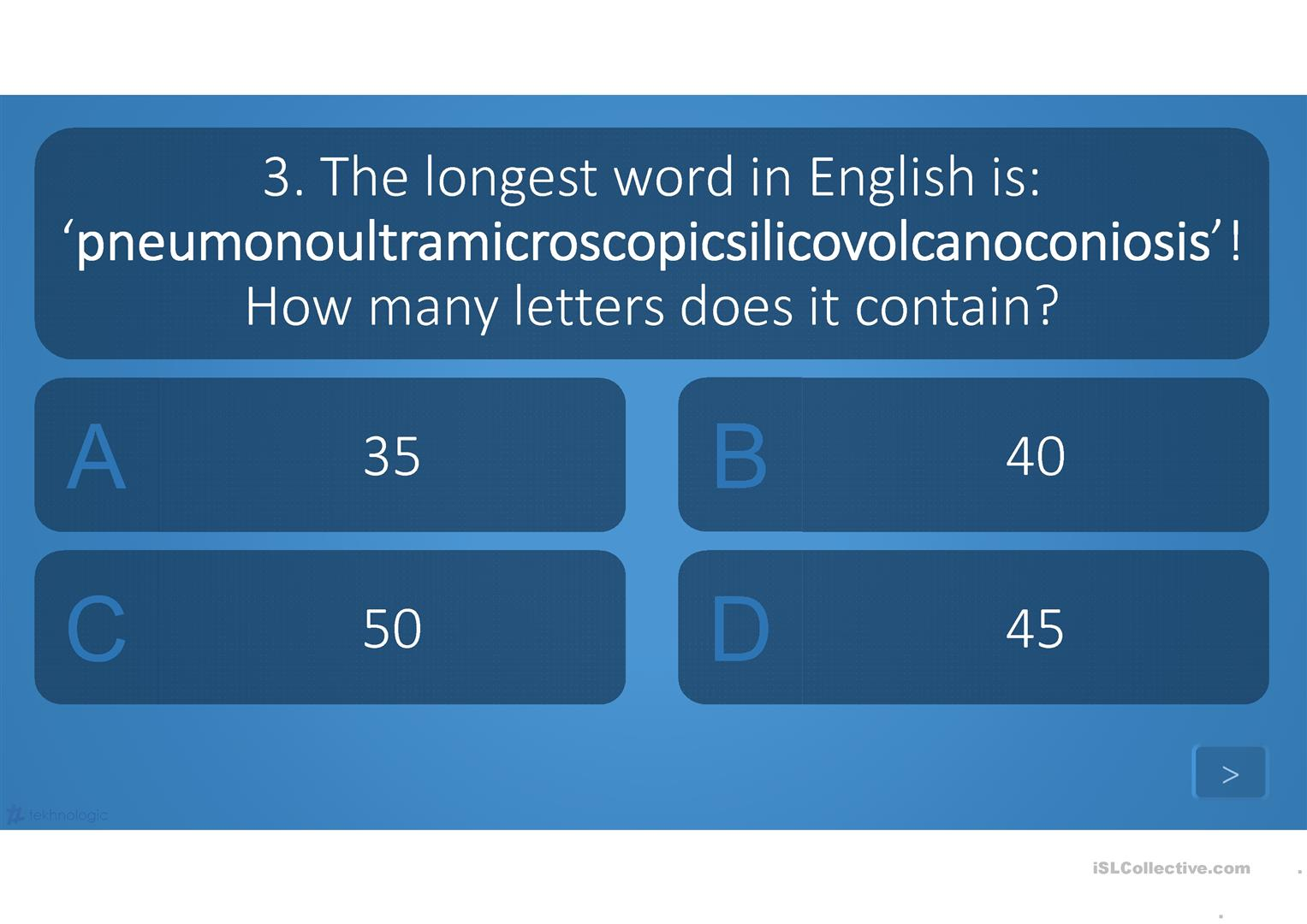 English Quiz For The Beginning Of The Year