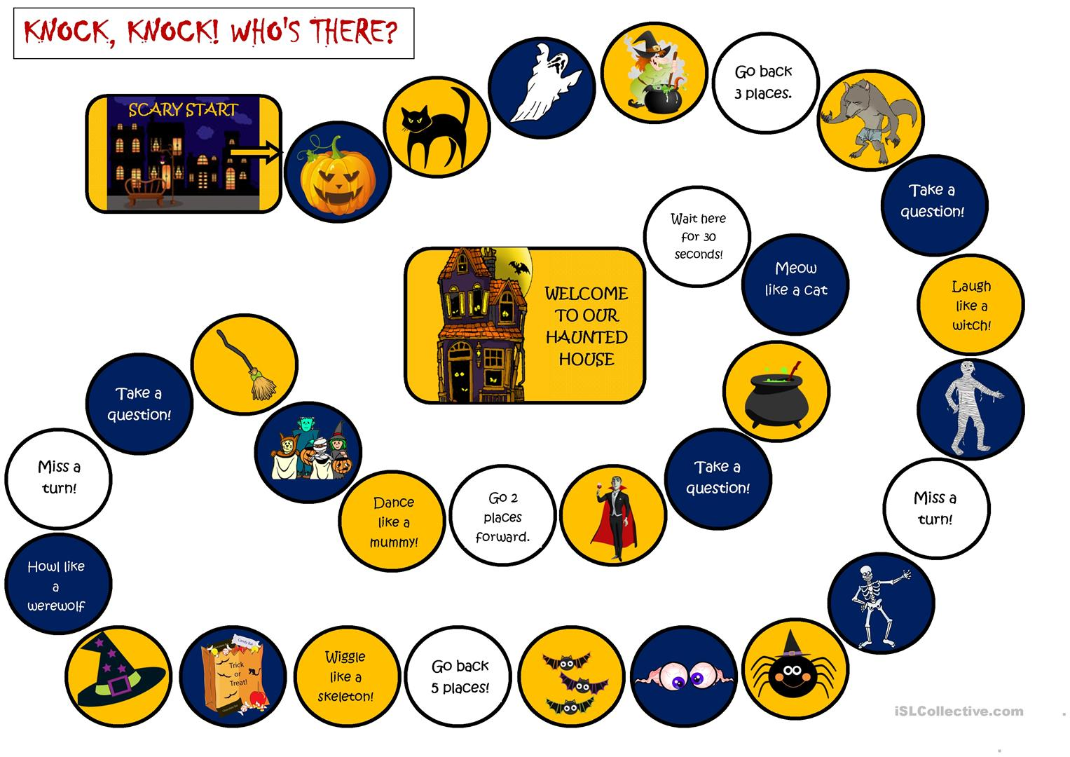 Halloween Board Game Knock Knock Who S There