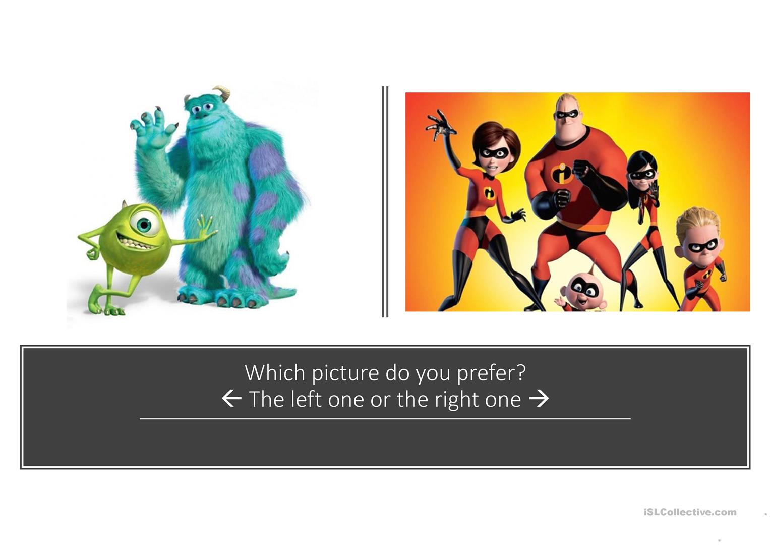 Speaking Activity Which One Or Ones Do You Prefer