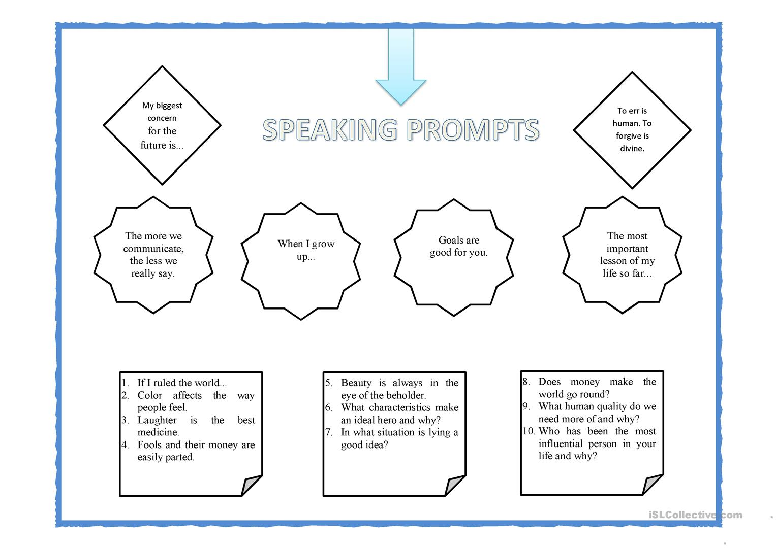 Speaking Prompts