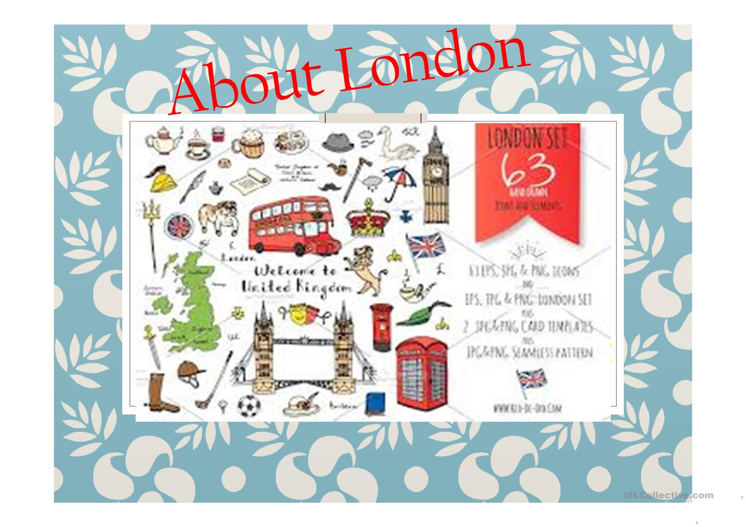 Welcome To London Worksheet