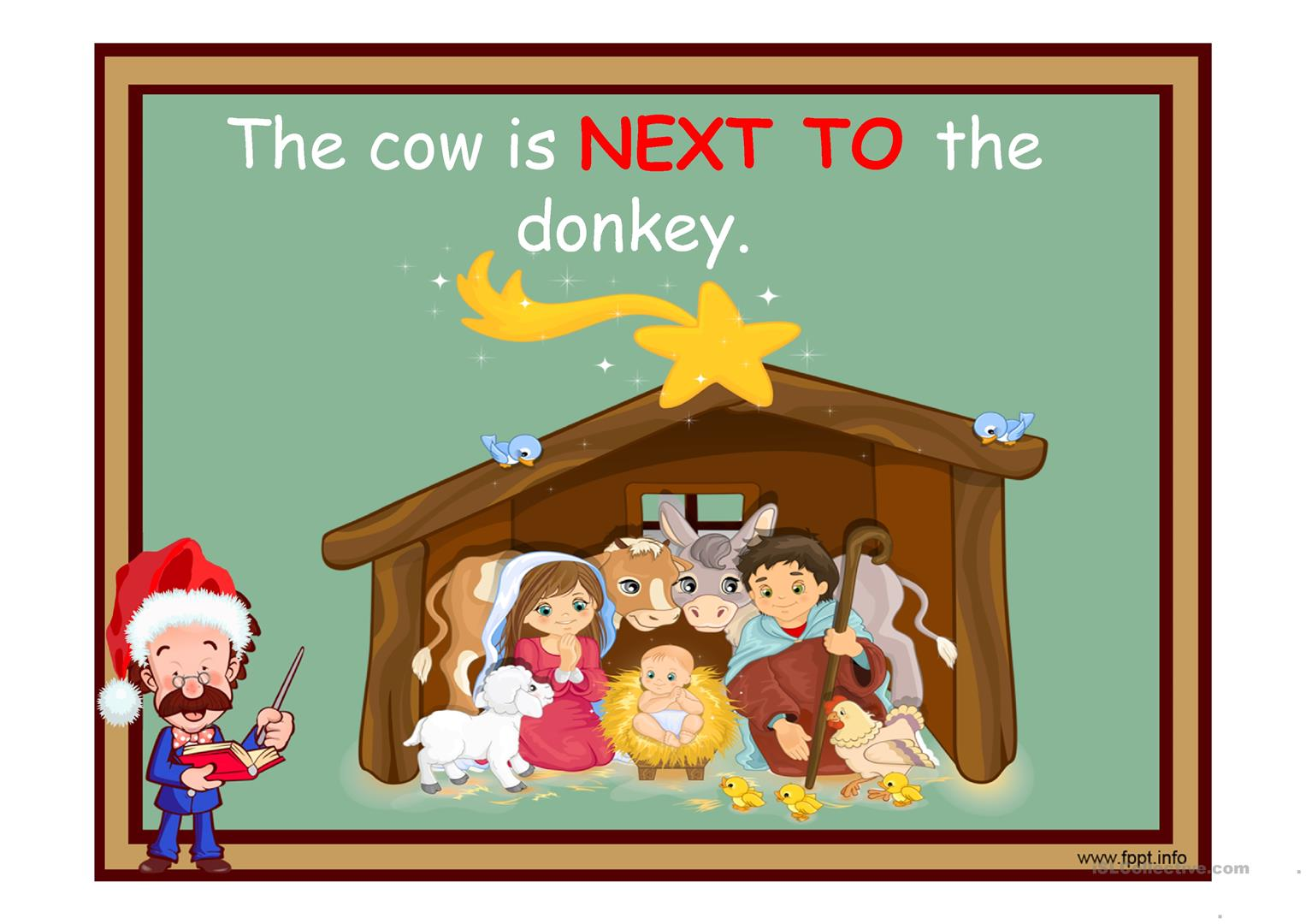 Christmas And Prepositions Of Place