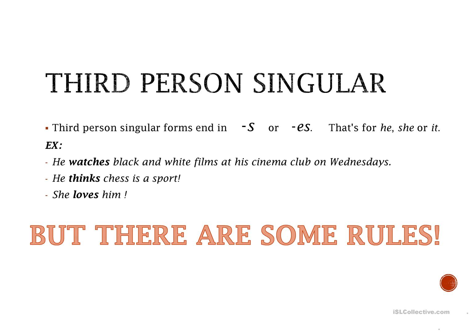 Present Simple And Third Person Singular