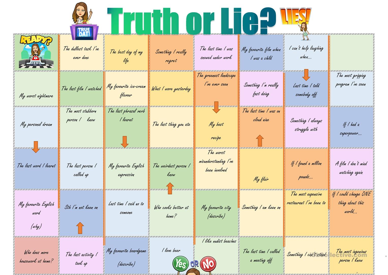 Truth Or Lie Improved Version Worksheet