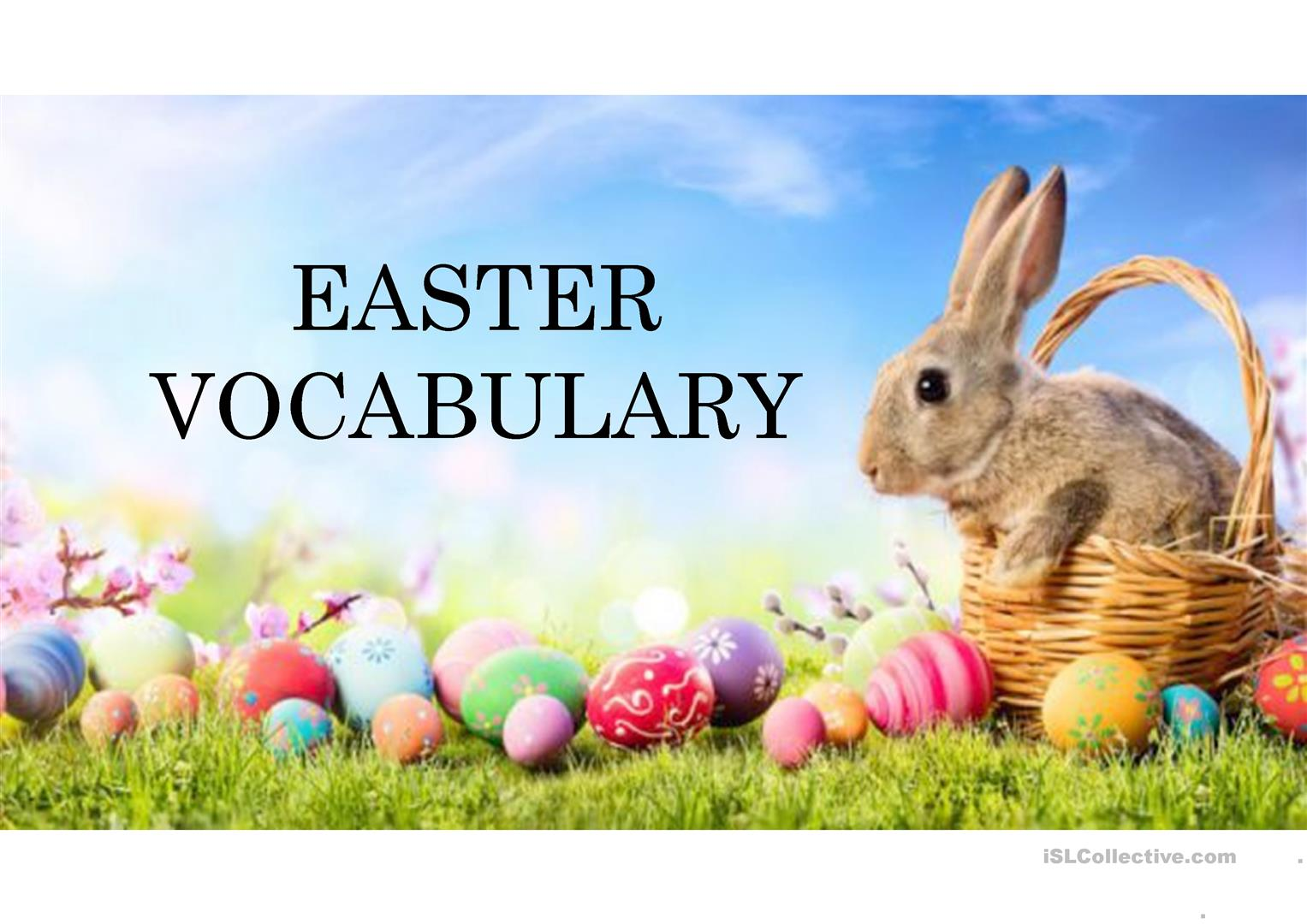 Easter Vocabulary 25 Words Related To Easter
