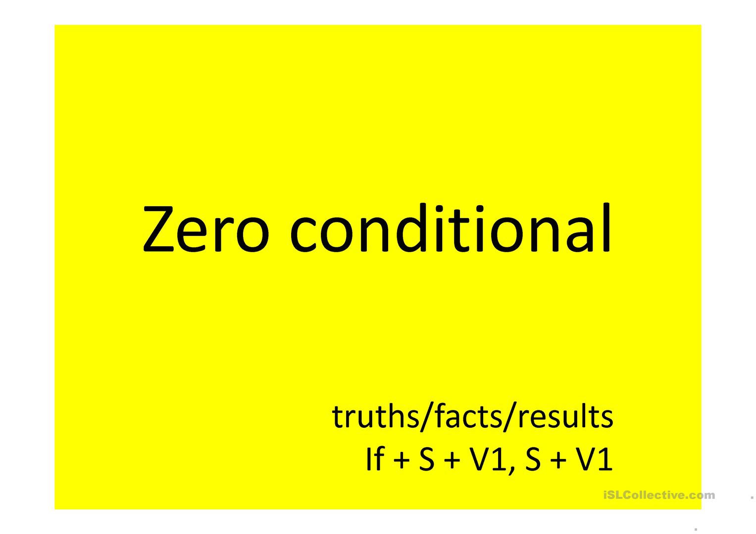 Zero Conditional Worksheet