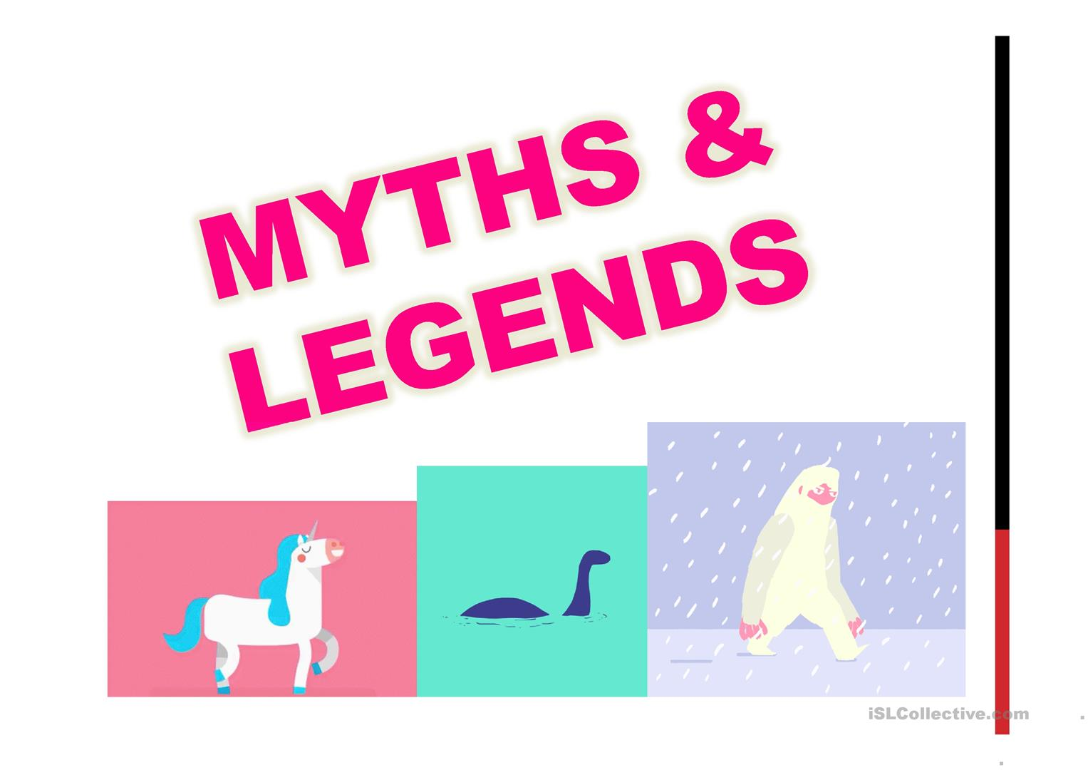 Myths And Legends Worksheet