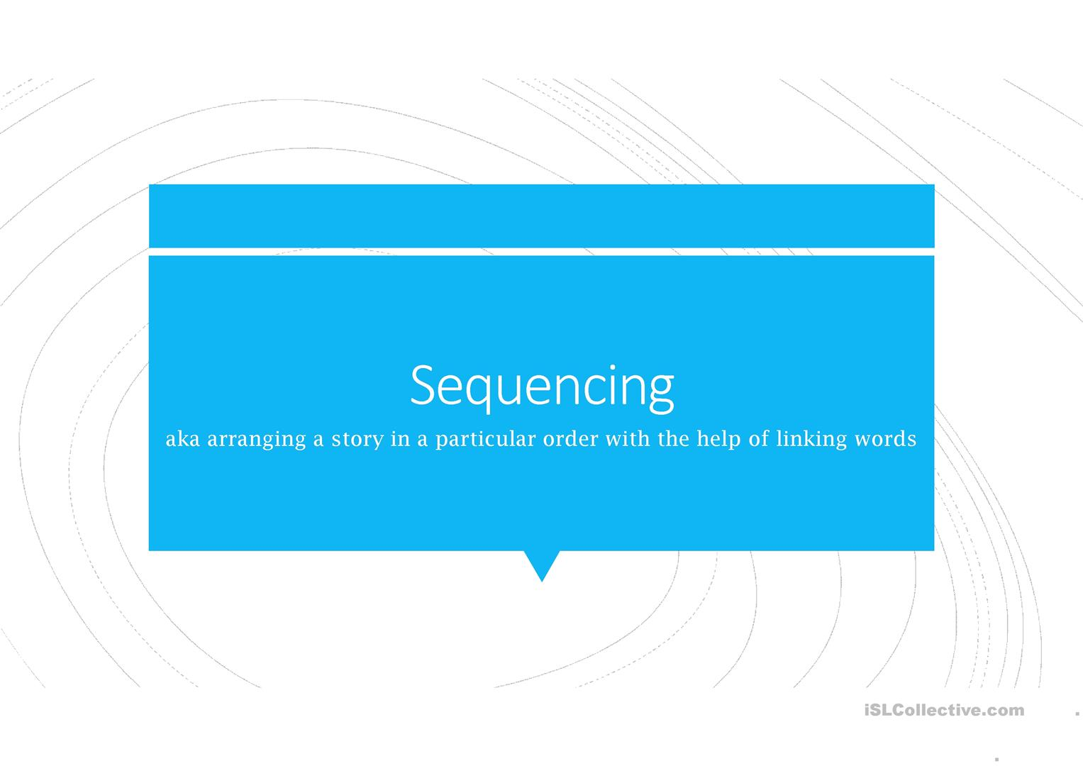Sequencing Linking Words Worksheet