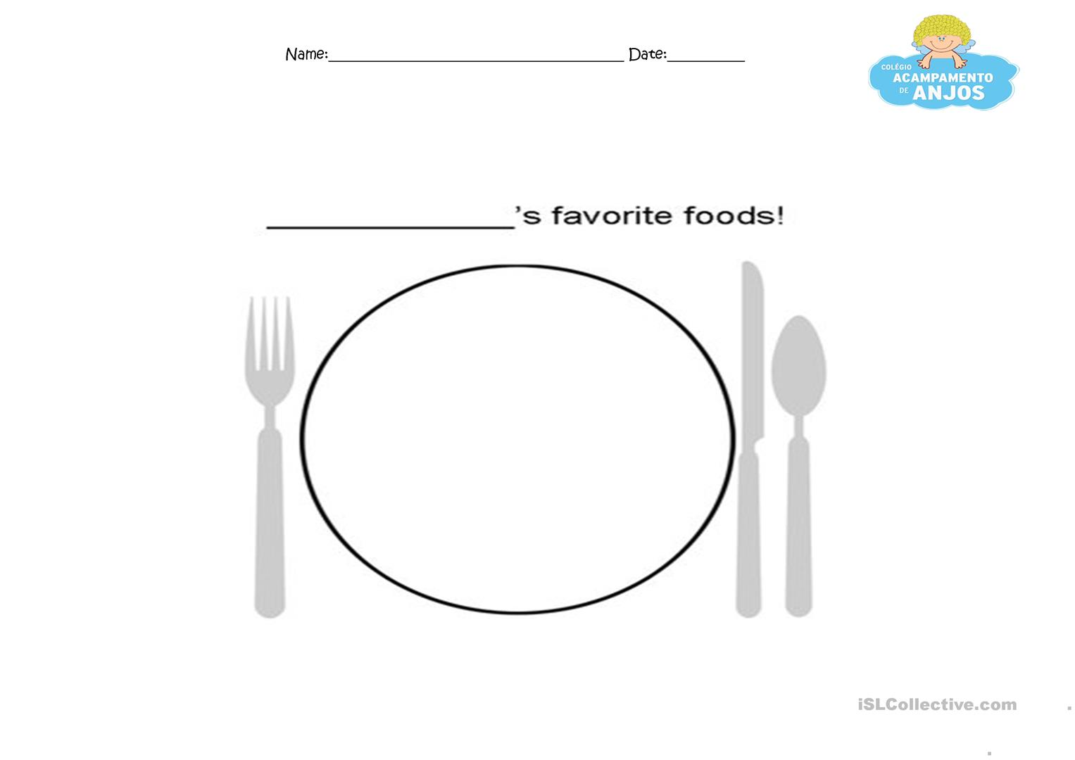 Draw Your Favourite Food