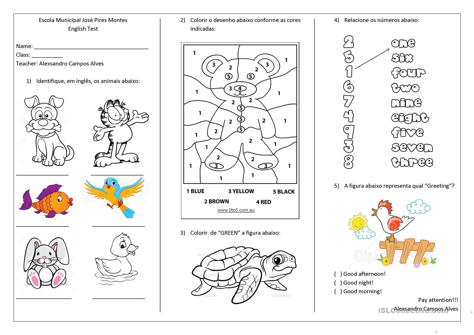 Tests For First And Second Grade
