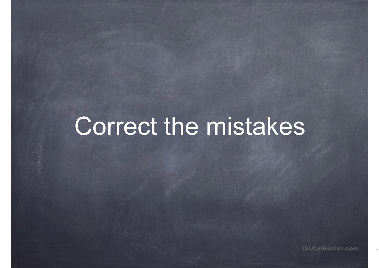 Mistakes Correction Practice Worksheet