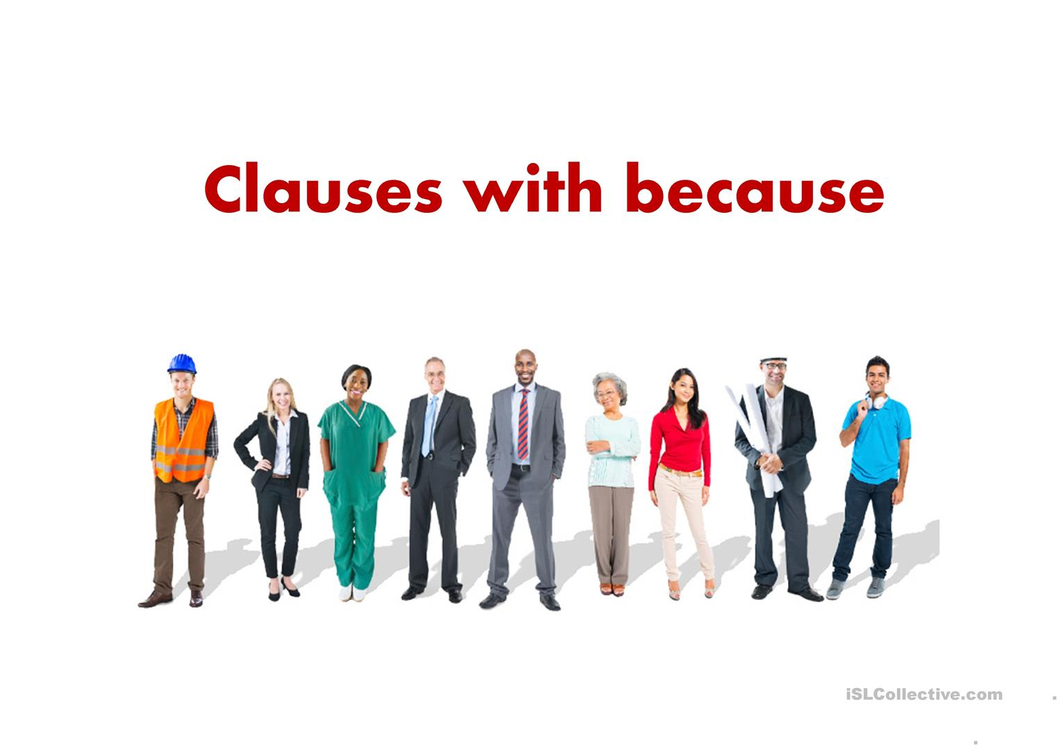 Clauses With Because