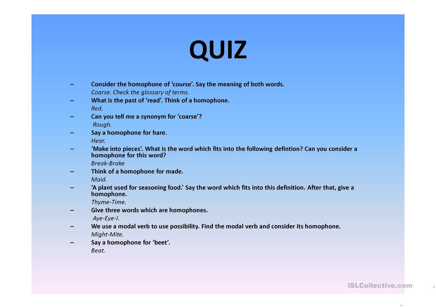 Homophones Your And You Re Worksheet