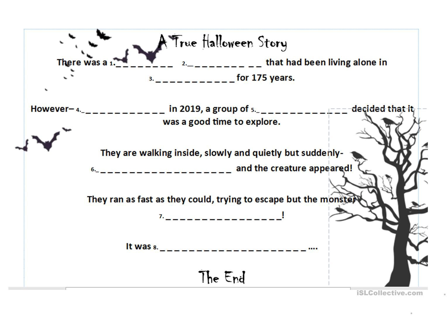 Halloween Roll A Story Thriller Quiz Lesson