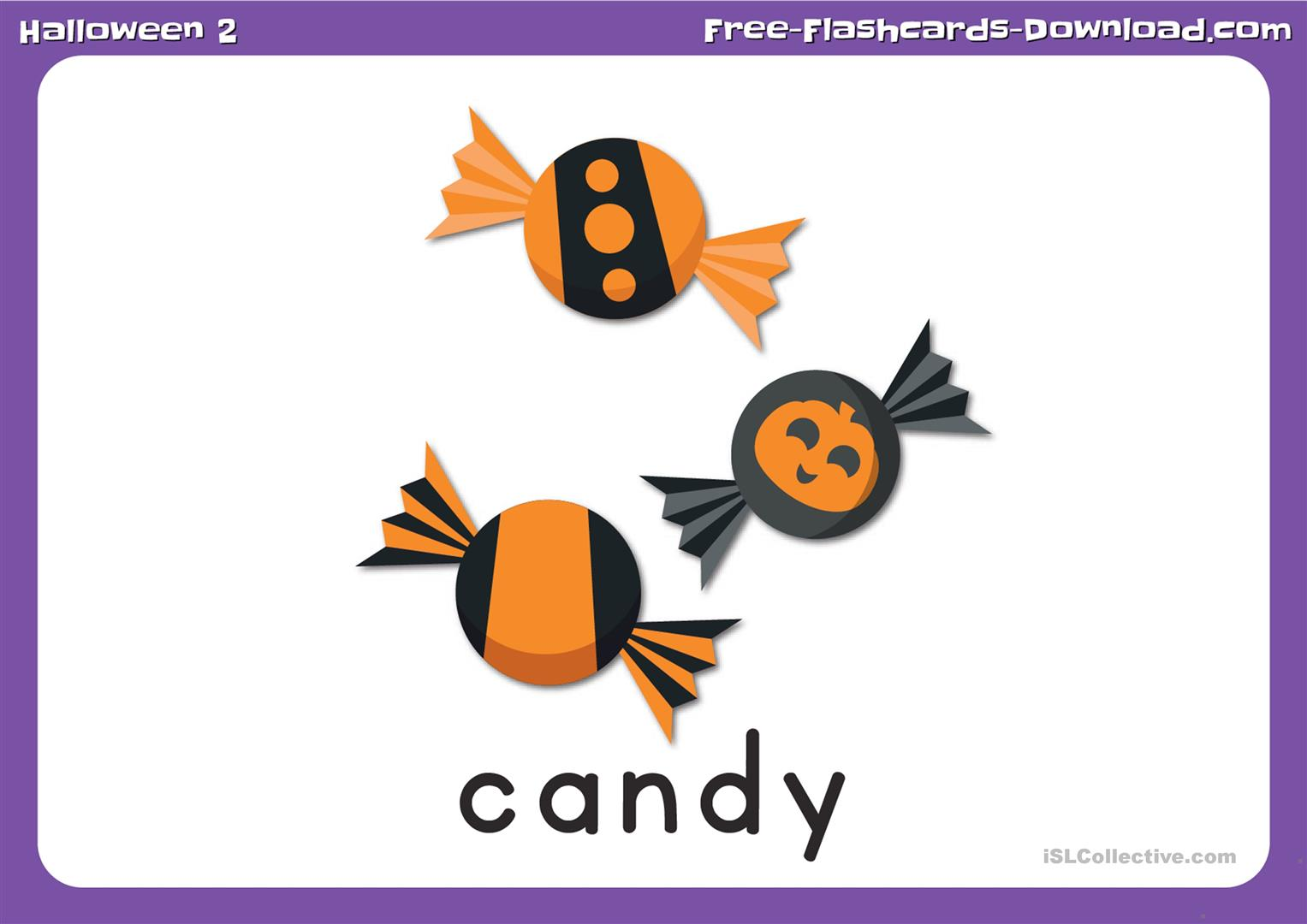 Halloween Flashcards Set 2 With Captions