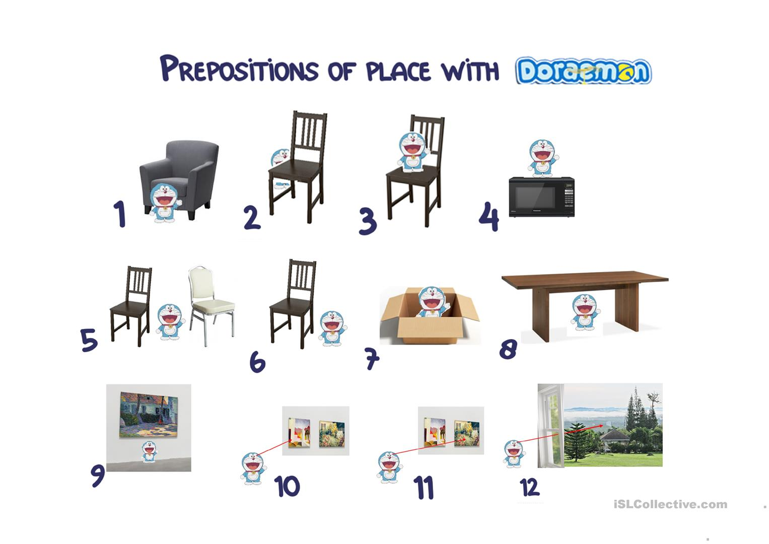 Prepositions Of Place With Doraemon
