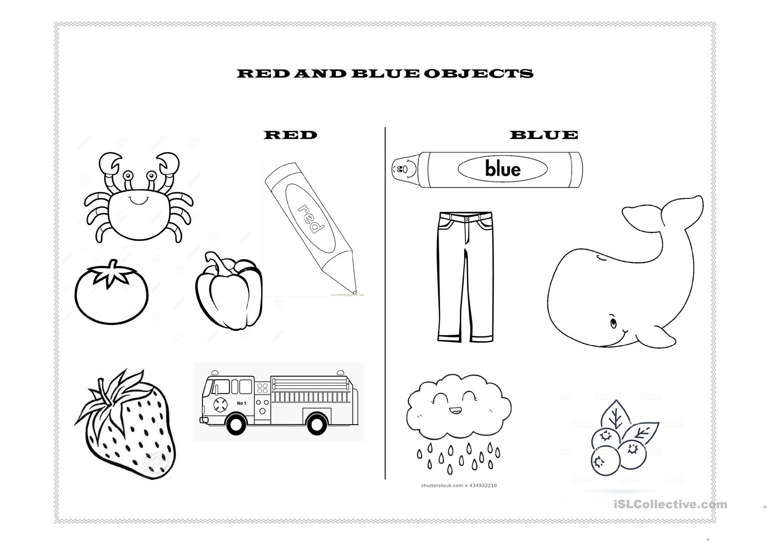 Red And Blue Objects