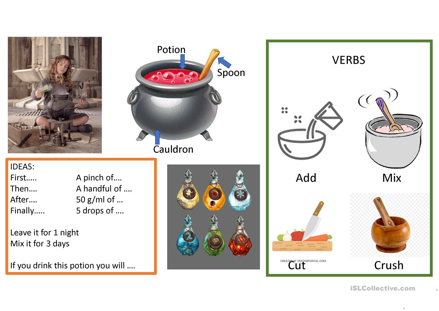 Magic Potion Vocabulary Ppf For Worksheet Creative