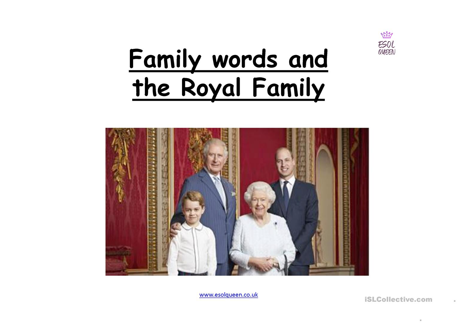 Family Words And The Royal Family