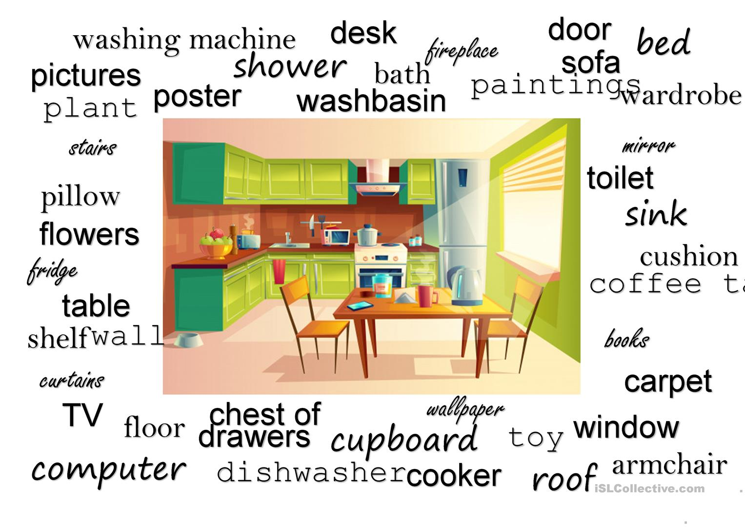 Rooms And Furniture Speaking Task