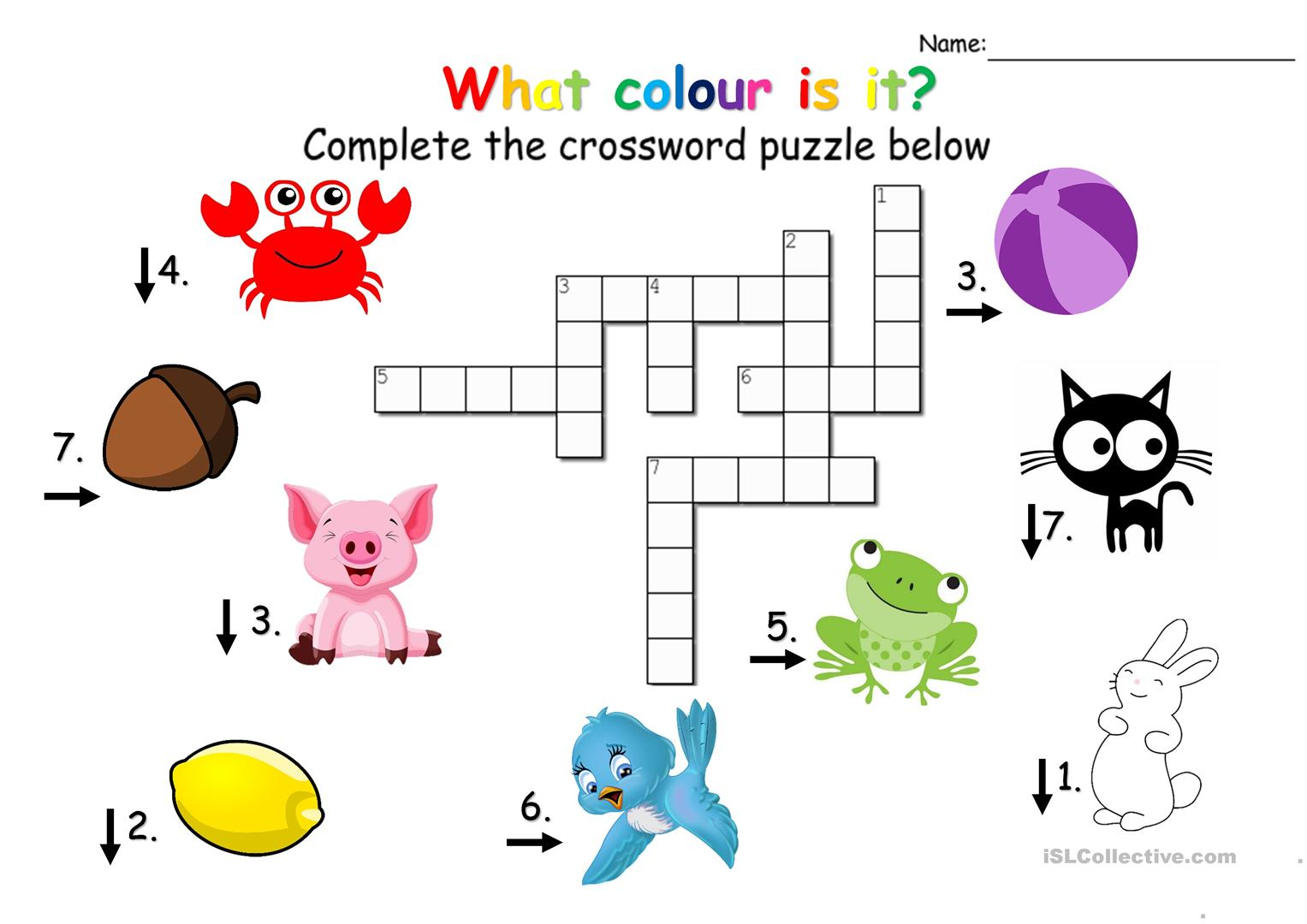 Crossword Puzzle Colours