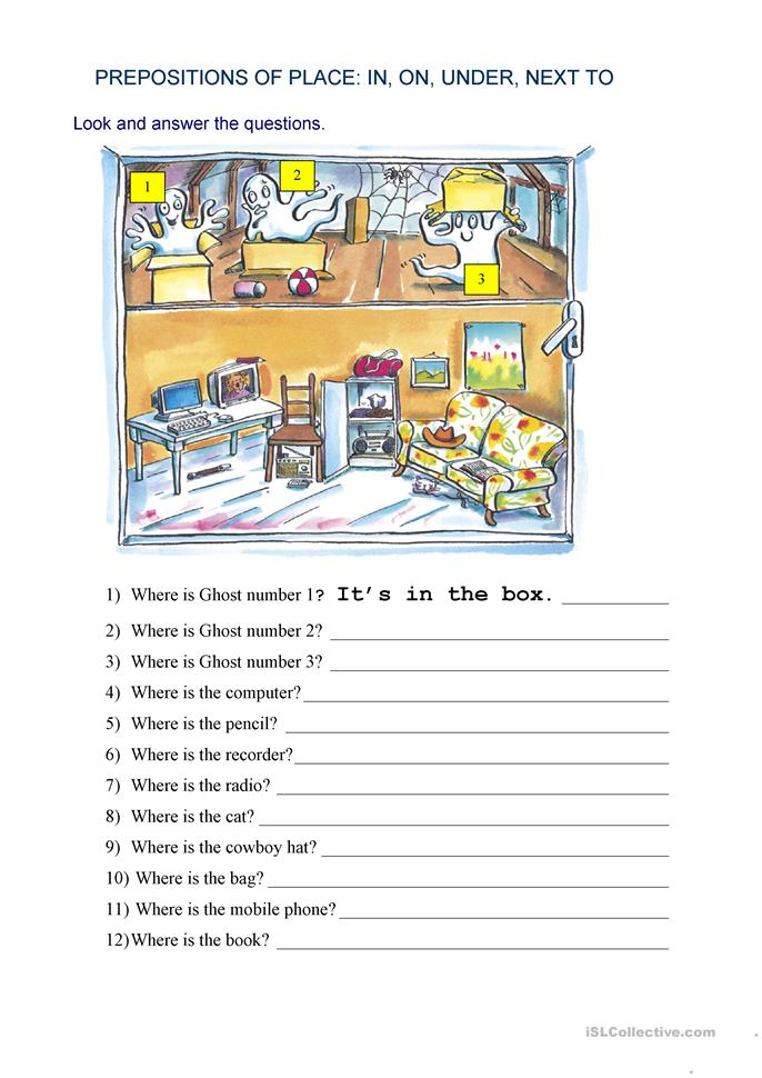 Prepositions Of Place Where Is Worksheet