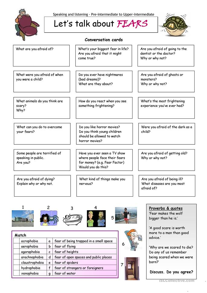 Overcoming Fear Worksheets
