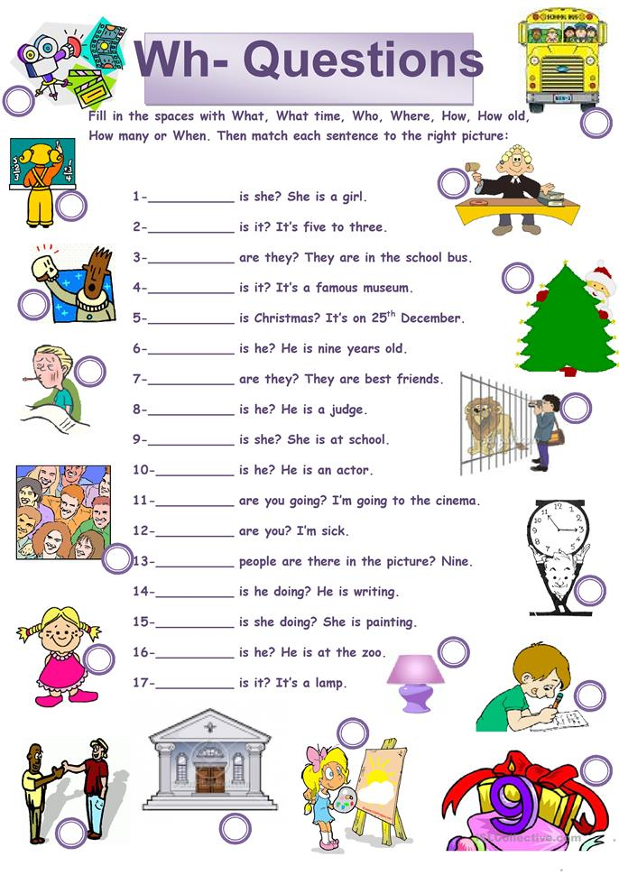 Wh Questions Worksheet