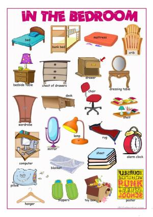 In The Bedroom Picture Dictionary