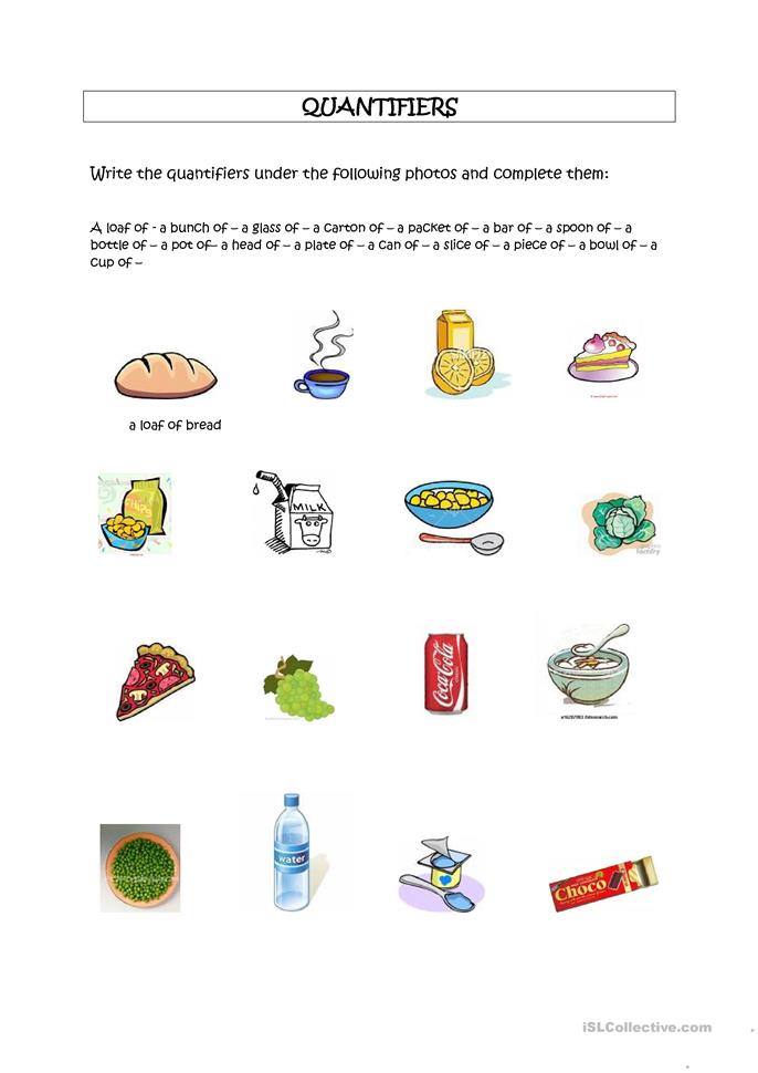 Countable Amp Uncountable Foods Worksheet