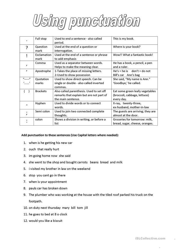Dictation For Year 1 Primary School Worksheet