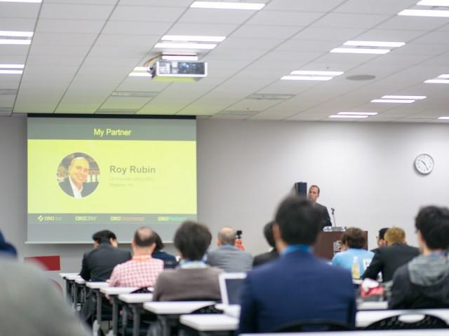 Yoad Kutner speaks at Meet Magento