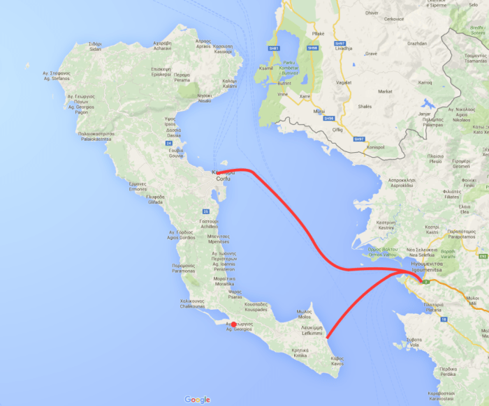 Ferry Routes from Igoumenitsa to Corfu
