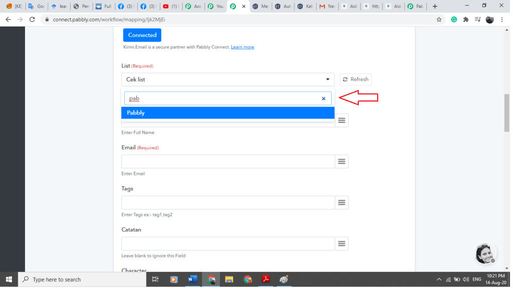 How to use Pabbly Connect to Integrate Apps with KIRIM.EMAIL 15