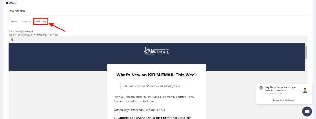 What's New From KIRIM.EMAIL: May 2021 3