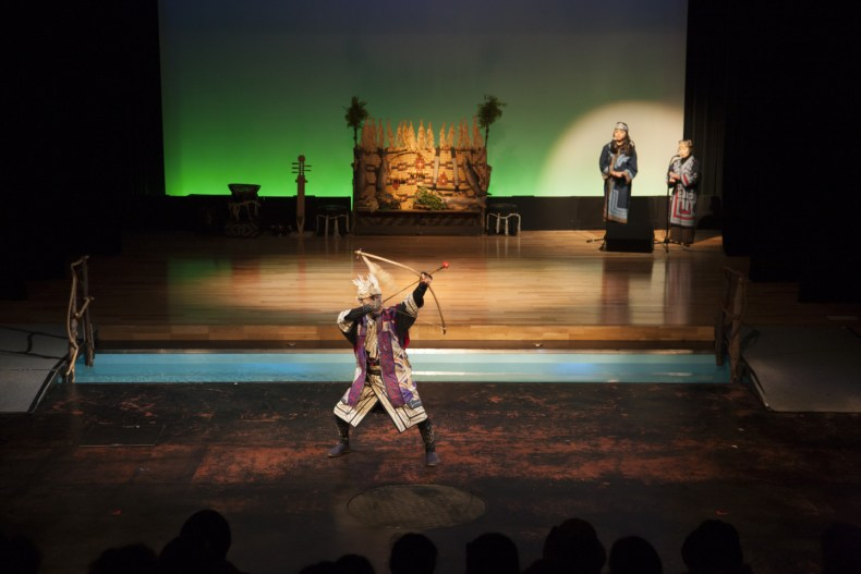 Lake Akan Ainu Theater IKor(Ainu traditional dance)