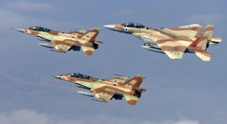 ZIONIST FORCES AIRSTRIKES HIT TARGETS INSIDE SYRIA