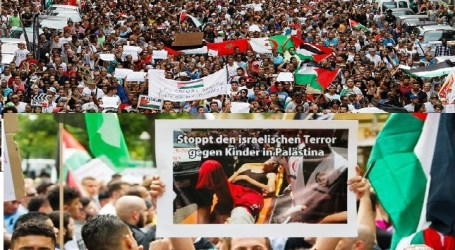 PRO-PALESTINIAN DEMOS HELD ACROSS THE WORLD