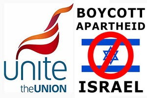 BRITAIN'S LARGEST TRADE UNION: ISRAEL IS AN APARTHEID STATE