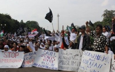 PALESTINIANS WELCOME SOLIDARITY ACTION BY INDONESIANS