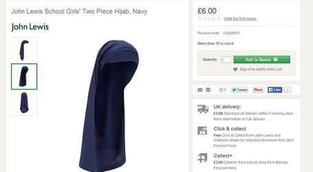 MAJOR UK DEPARTMENT STORE TO SELL SCHOOL HIJABS