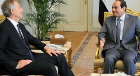 TONY BLAIR IN CAIRO TO MEET WITH SISI