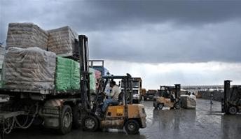 CONSTRUCTION MATERIALS TO ENTER GAZA TUESDAY