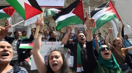 ANTI ISRAEL-RALLY IN VIENNA PUSHES FOR LIFTING GAZA SIEGE