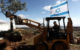 ISRAELI BULLDOZERS RAZE PALESTINIAN LANDS IN SALFIT
