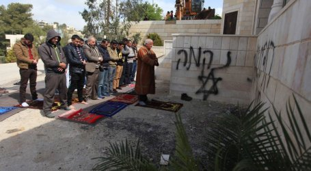 JEWISH SETTLERS TORCH MOSQUE IN WEST BANK