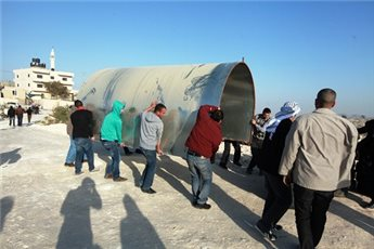 ISRAELI FORCES DETAIN TWO PALESTINIANS FROM E1 PROTEST CAMP